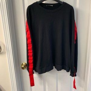 zara black sweatshirt size L